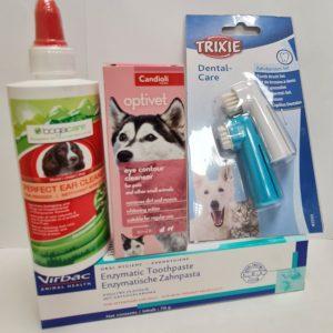 Akių, ausų, dantų priežiūra šunims